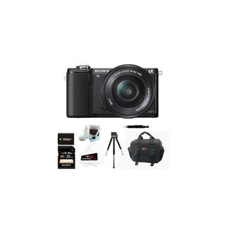 Sony ILCE5000LB ILCE-5000B Alpha A5000 Mirrorless Digital Camera with 16-50mm Lens and 32GB Kit