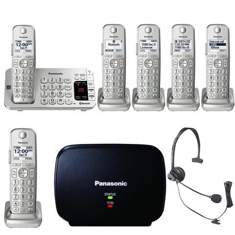 Panasonic KX-TGE475S Link2Cell Bluetooth Phone w/6 Handsets & Range Extender Bundle