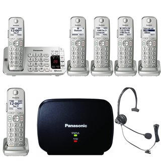 Panasonic KX-TGE475S Link2Cell Bluetooth Phone w/6 Handsets & Range Extender Bundle
