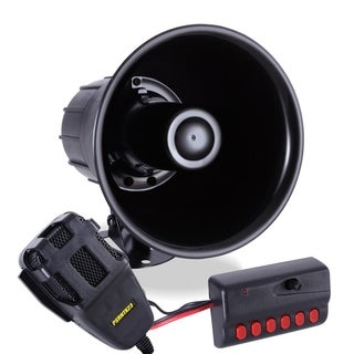 Pyle PSRNTK23 Siren Horn Speaker System with Handheld PA Microphone