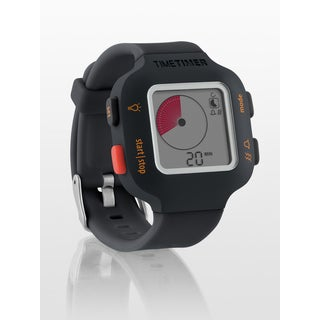 The Time Timer Watch PLUS Charcoal Small Tracker Band