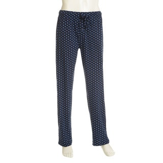 Hanes Men's Blue Cotton Knit Print and Plaid Lounge Pants (Set of 2)
