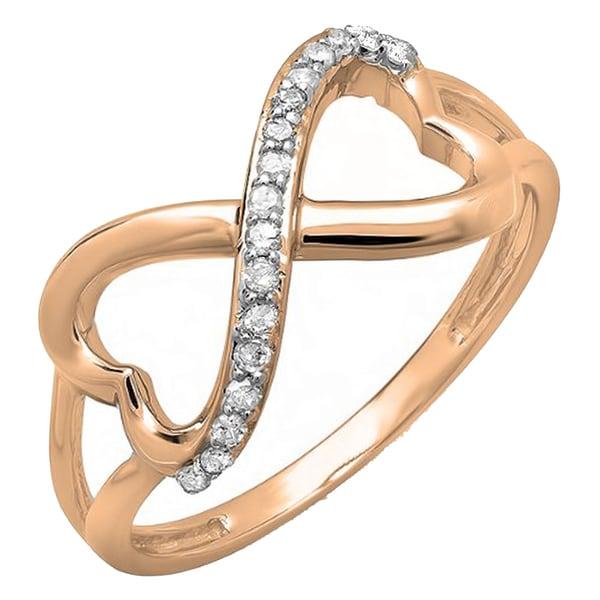 Double Heart One Love 14K White Gold Over Bangle Bracelet