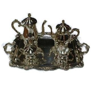Elegance Silver Plated 5-pc Tea & Coffee Set