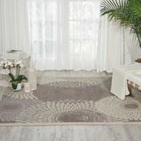 Nourison Graphic Illusions Grey Square Area Rug - 7' x 7'
