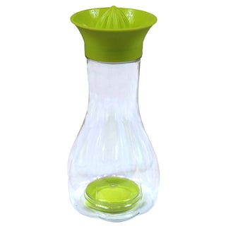 Basicwise Manual Plastic Citrus Juicer with Bottle and Storage Lid