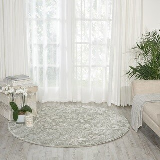 Porch & Den Greenpoint Sutton Grey Area Rug (5'3 Round)