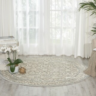 Porch & Den Greenpoint Meserole Grey Area Rug (5'3 Round)