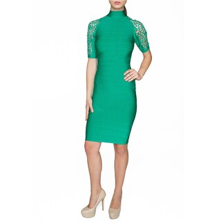 Sentimental NY Women's Lace Sleeve Detail Knee-length Body Con Dress (More options available)