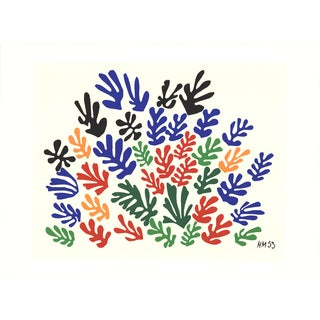 Henri Matisse 'Spray of Leaves' Serigraph, 22 x 30 inches