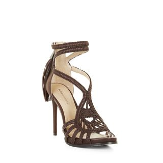 BCBG Max Azria Women's Esh Brown Leather Woven High Heel Strappy Sandals (3 options available)