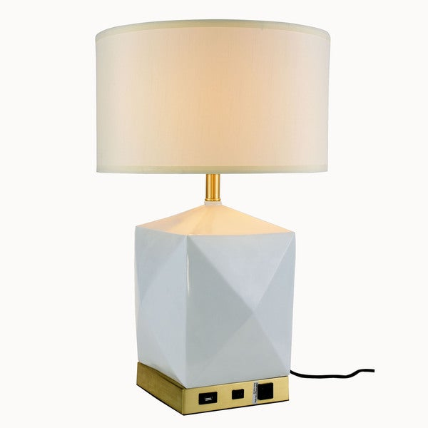 Somette Verona Collection 1 Light Brushed Brass And White