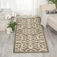 """Nourison Linear Silver/Ivory Area Rug (2'3 x 7'6) - 2'3""""x7'6"""""""