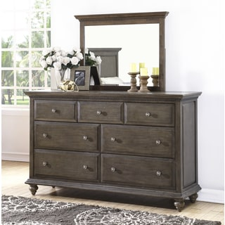 Abbyson Marseilles City Grey Dresser and Mirror Set