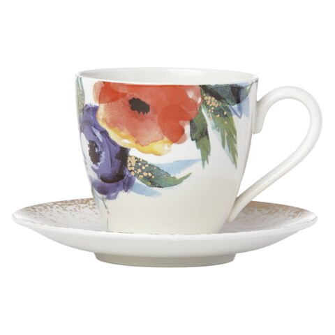 Lenox Passion Bloom Multicolor China Cup and Saucer Set