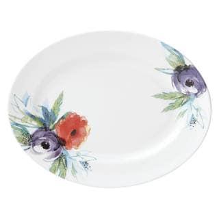 Lenox Passion Bloom Multicolor Bone China 13-inch Oval Platter