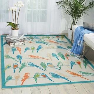 Waverly Sun N' Shade Multicolor Indoor/ Outdoor Area Rug by Nourison (7'9 x 10'10)