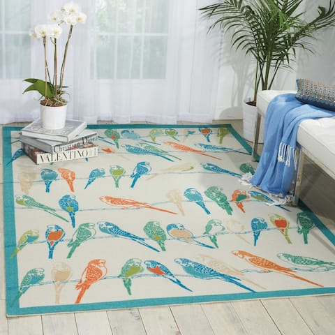 Waverly Sun N' Shade Birds Indoor/Outdoor Area Rug
