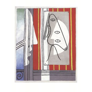 Pablo Picasso 'Figure and Profile' 2014 Lithograph Poster, 31.5 x 23.5 inches