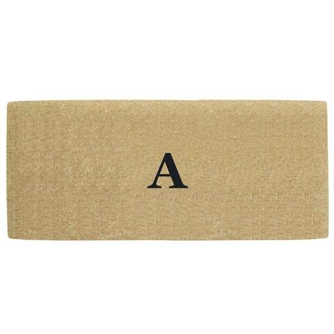 Coco Heavy-duty Coir No-border Monogrammed 24 Inches x 57 Inches Doormat