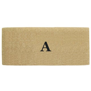 Coco Heavy-duty Coir No-border Monogrammed 24 Inches x 57 Inches Doormat