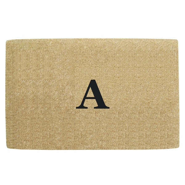 Monogrammed Brown Coir 22 x 36 Heavy Duty Door Mat - 22 inches x 36 inches