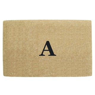 Monogrammed Brown Coir 22 x 36 Heavy Duty Door Mat