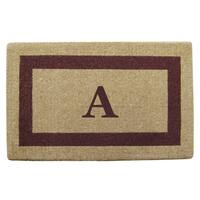 Brown Heavy-duty Coir Single Picture Frame Monogrammed Doormat - 38 inches x 60 inches