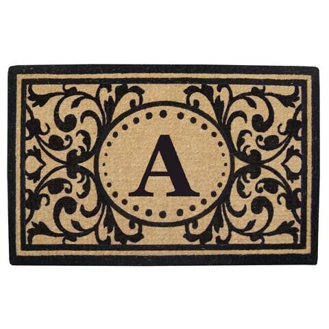 Heritage Heavy-duty Coir Decorative Monogrammed Doormat
