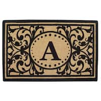 Heritage Heavy-duty Coir Decorative Monogrammed Doormat