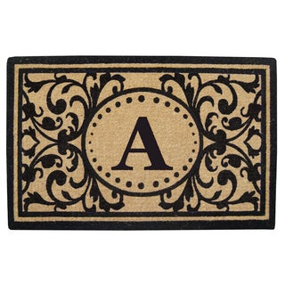 Heritage Heavy-duty Coir Decorative Monogrammed Doormat (More options available)