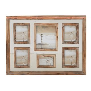 Brown and Grey Wood 24-inch High x 31-inch Wide Wall Photo Frame