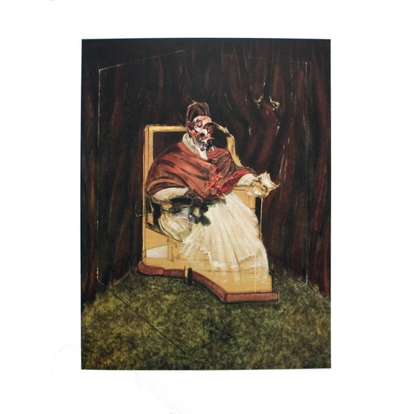 Francis Bacon 'Portrait of Pope Innocent XII' 1995 Poster, 35.5 x 25.5 inches - 35.5 x 25.5