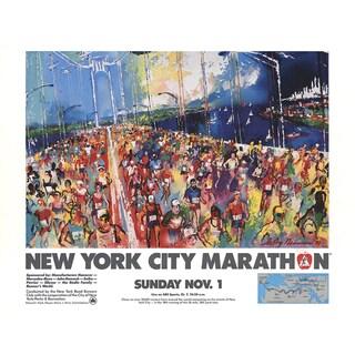 Leroy Neiman 'New York City Marathon' 1987 Offset Lithograph Poster, 18 x 24 inches
