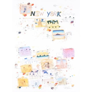 Wilhelm Scholte 'New York, A Regular Place to Live' Lithograph