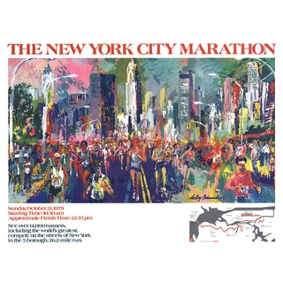 Leroy Neiman 'New York City Marathon 1979' Poster, 22.5 x 29.75 inches