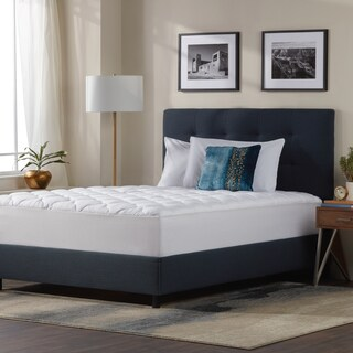 Kotter Home Five-Star Plush Hotel Mattress Pad Topper with Fitted Skirt