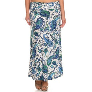 Women's Paisley Plus-size Maxi Skirt