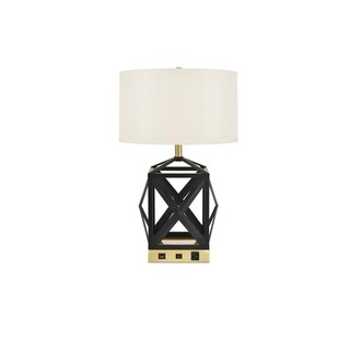 Somette Verona Collection 1-Light Black Finish Table Lamp
