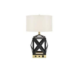 Link to Somette Verona 1-Light Black Finish Table Lamp Similar Items in Desk Lamps