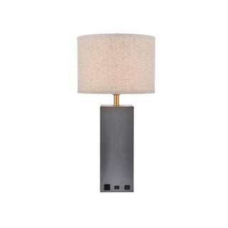 Somette Verona Collection 1-Light Concrete Finish Table Lamp