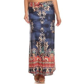 Women's Plus-size Border Paisley Maxi Skirt