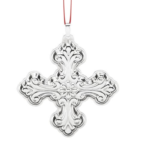 Reed and Barton Best of The Season Sterling Silver Christmas Cross Ornament