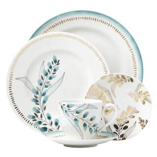 Lenox Goldenrod Multicolored Porcelain 5-piece Floral Place Setting