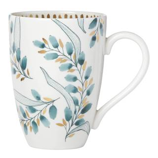 Lenox Goldenrod White, Blue, and Gold-tone Porcelain Tall Mug