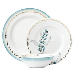 Lenox Goldenrod Blue and White Porcelain 3-piece Place Setting
