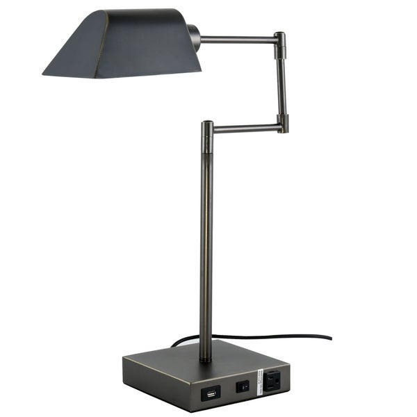 Somette Verona Collection 1-Light Bronze Finish Table Lamp