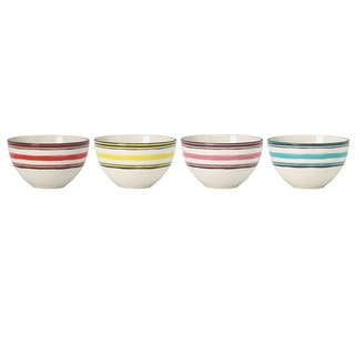 Lenox Around the Table Assorted Stoneware Stripes Dessert Bowls (Pack of 4)