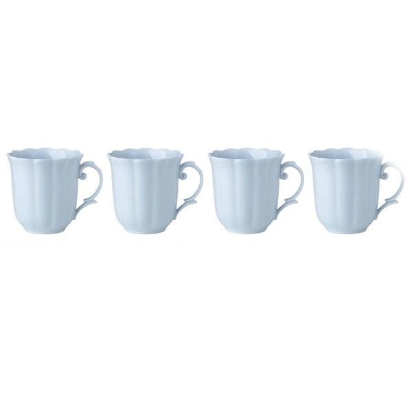 Lenox Erfly Meadow Blue Porcelain Dessert Mugs Pack Of 4