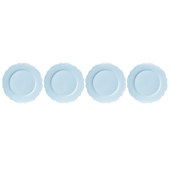 Lenox Butterfly Meadow Solid Blue Porcelain Dinner Plates (Pack of 4)